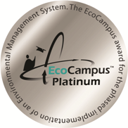 The EcoCampus Platinum award for the phased implementation of an Environmental Management System